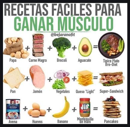 recetas para ganar masa muscular