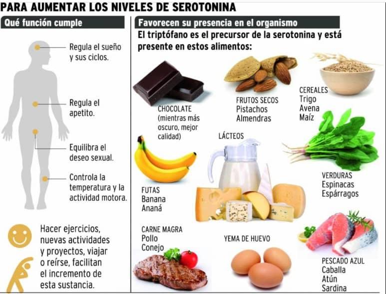 alimentos para aumentar la seronina
